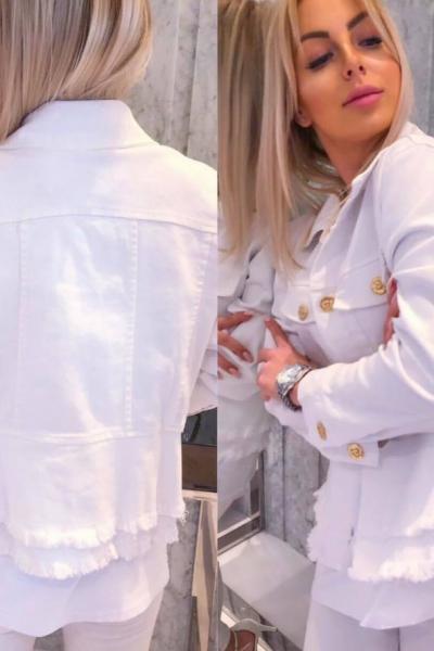 biela riflova bunda