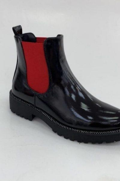cierno-cervene clenkove cizmy
