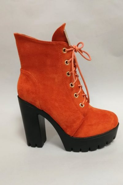 jesenne oranzove cizmy na platforme