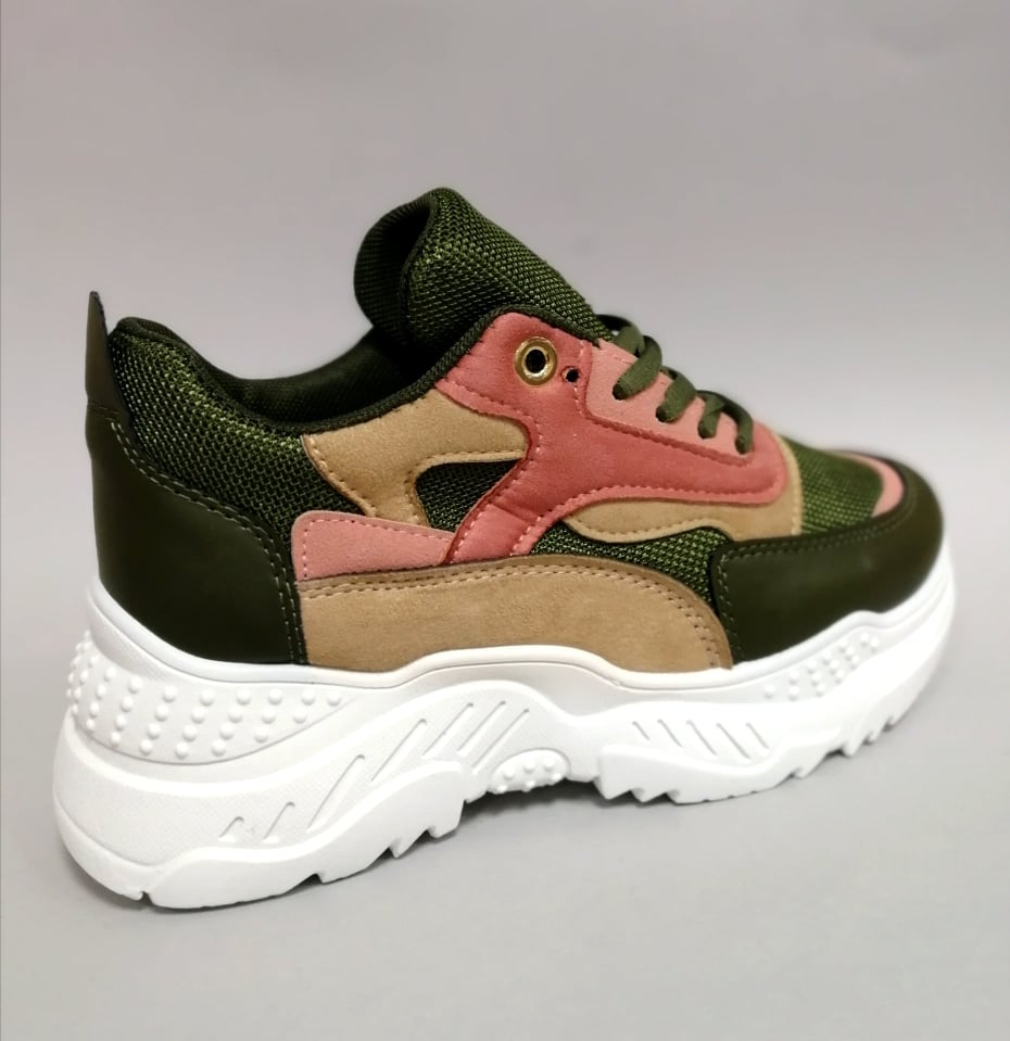 stylove zelene tenisky na platforme