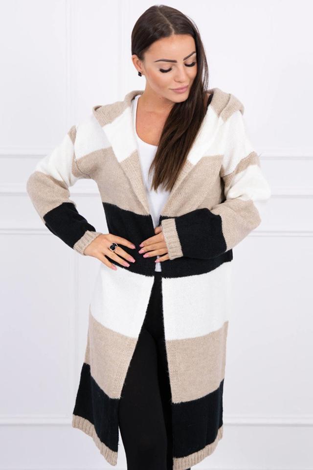 jesenny trojfarebny sveter maca