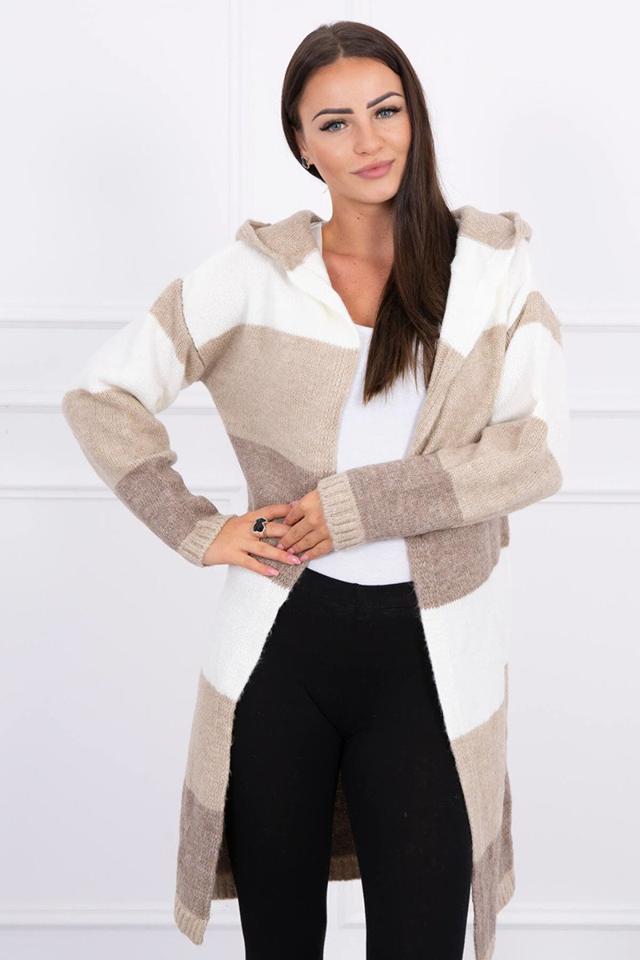 jesenny trojfarebny sveter