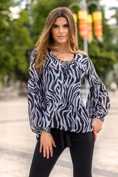 bluzka zebra cierna