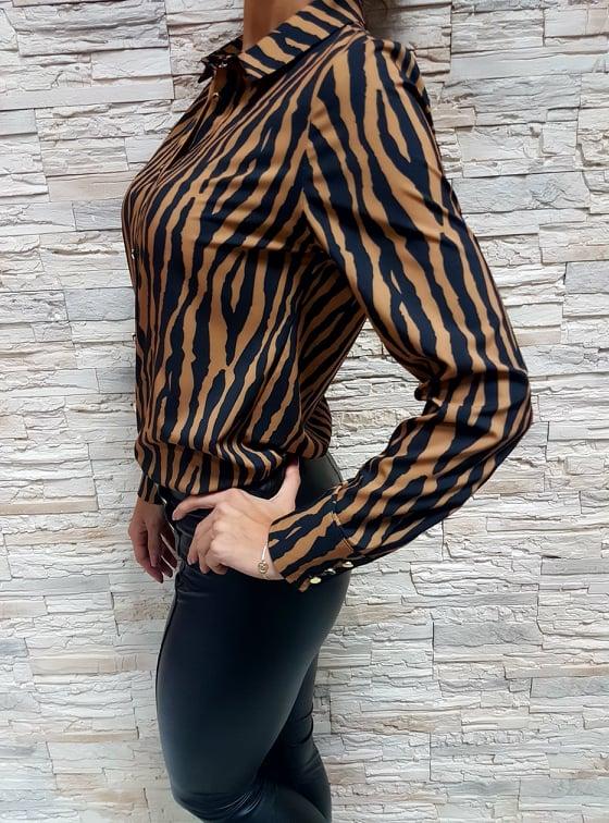 damska bluzka bledohneda