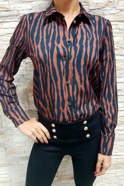 damska bluzka hneda