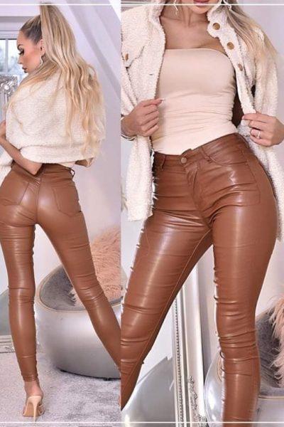 hnede kozenkove nohavice