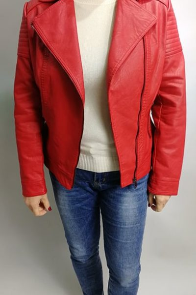 cervena kozenkova bunda moletka