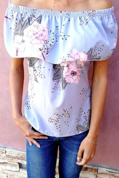 bledomodra bluzka