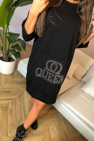 cierne saty queen
