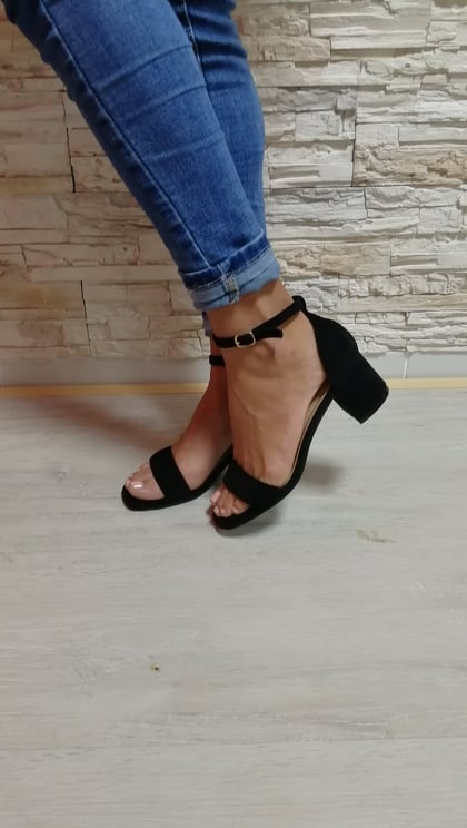 cierne sandale