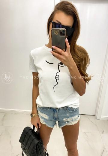 biele tričko