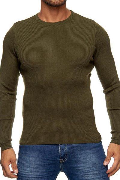 khaki pulover